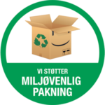 Badge for miljøvenlig pakning